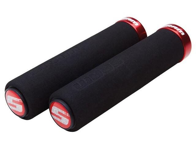 SRAM Foam Locking Grips black/red